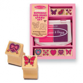 Melissa & Doug - Stamp Sets - Butterfly & Hearts
