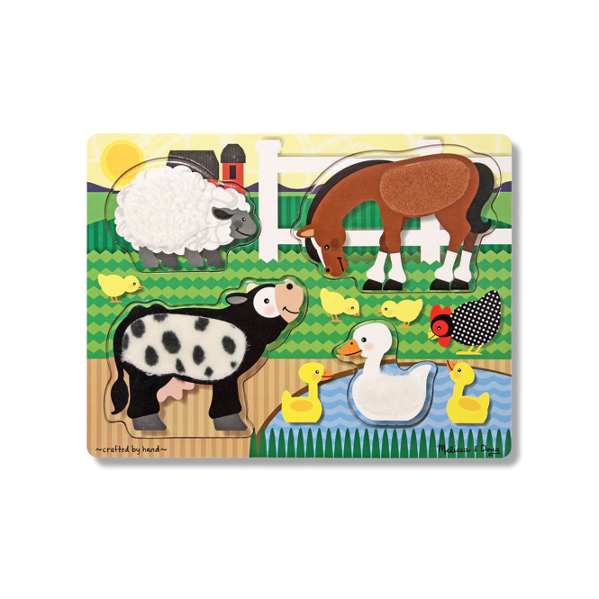 Melissa and Doug Melissa & Doug Touch and Feel Puzzle Farm Animals
