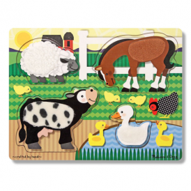 Melissa & Doug Touch and Feel Puzzle Farm Animals