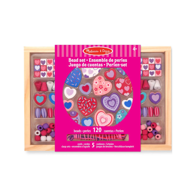 Melissa and Doug Melissa & Doug Wooden Bead Sets Hearts