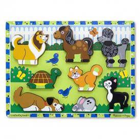 Melissa & Doug Wooden Chunky Puzzle Pets