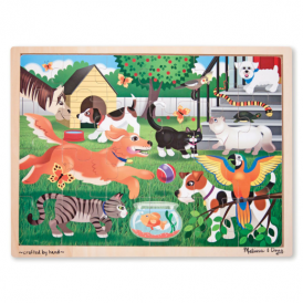 Melissa & Doug Wooden Jigsaw Pets at Play