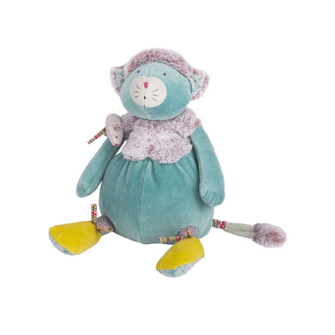 Moulin Roty Les Pachats Cat & Mouse Doll Blue