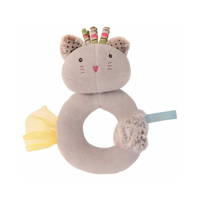 Moulin Roty Les Pachats Ring Rattle Grey