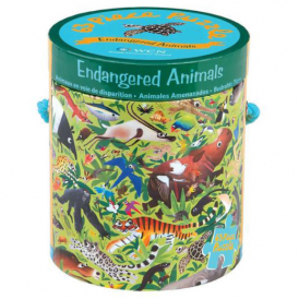 Mudpuppy 63 Piece Puzzle Endangered Animals