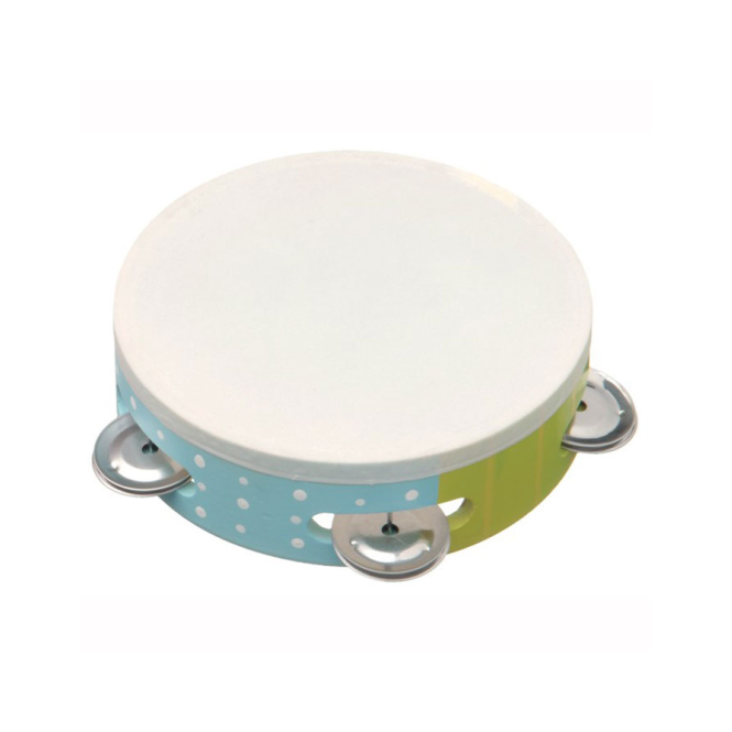 New Classic Toys Tambourine Green/Blue