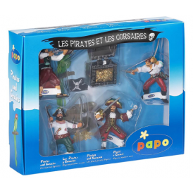 Papo Gift Box 4 Corsairs & Treasure Chest