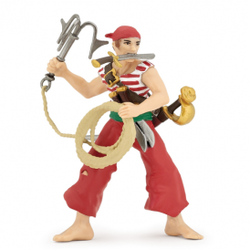 Papo Pirate with Grapnel Red