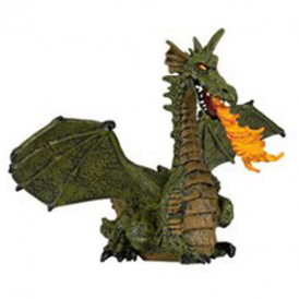 Papo Winged Green Dragon With Flame