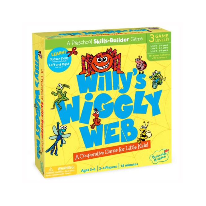 Peaceable Kingdom Willys Wiggly Web