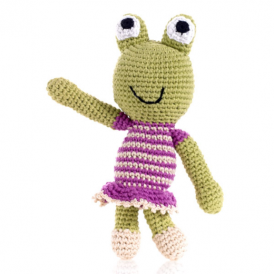 Pebble Crochet Frog Rattle Girl