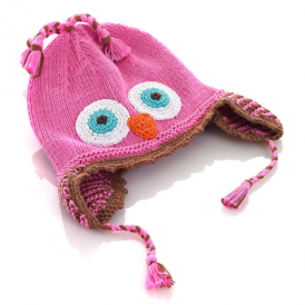 Pebble Owl Hat Pink