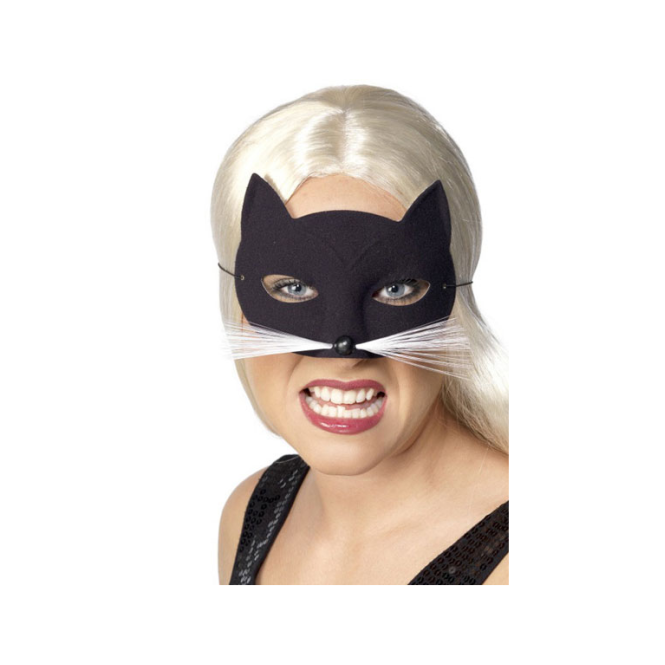 Smiffys Black Cat Eye Mask
