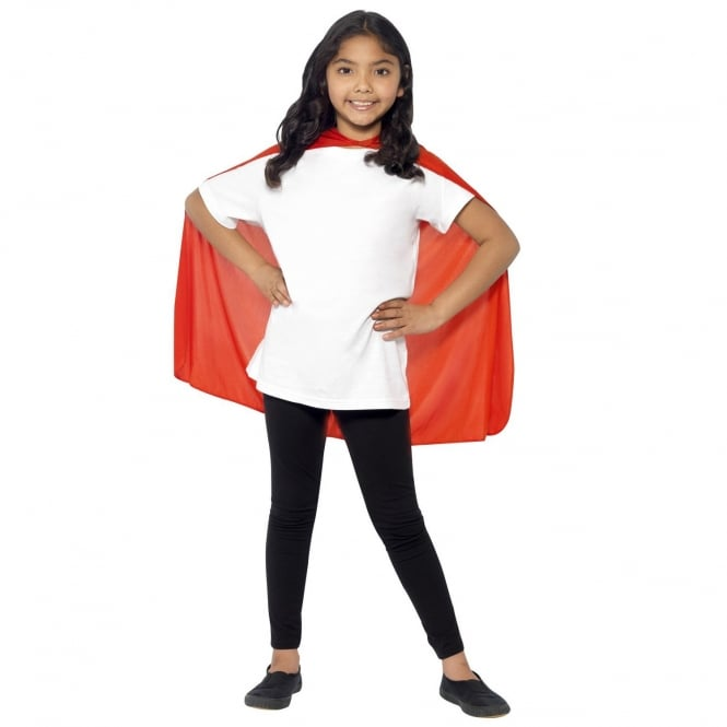 Smiffys Cape Mid Length Red
