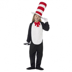 Smiffys Cat in the Hat with Jumpsuit