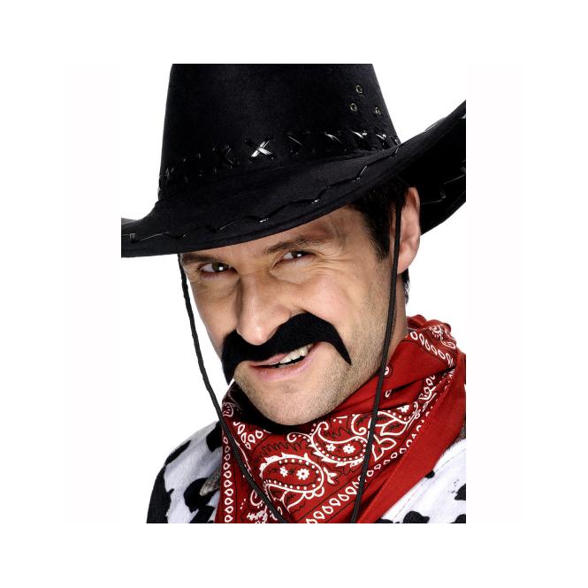 Smiffys Cowboy Moustache Black  sc 1 st  Soup Dragon & Smiffys Cowboy Moustache Black - Dress Up from Soup Dragon UK