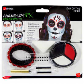 Smiffys Face Paint Kit Day Of The Dead