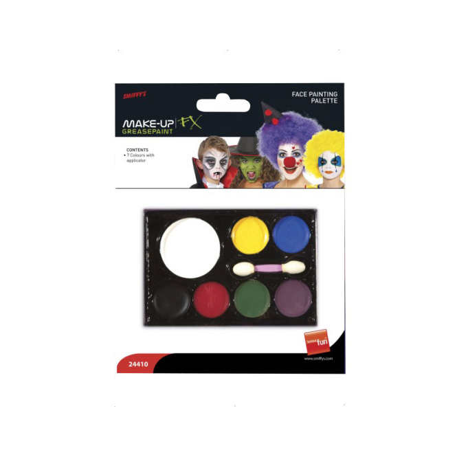 Smiffys Face Paint Palette 7 Colours