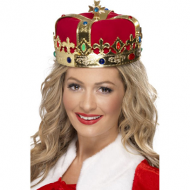 Smiffys Queens Crown Red With Jewels