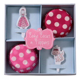 Talking Tables - Princess - Cake Cases & Toppers