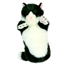 The Puppet Company Glove Puppet Cat Black White