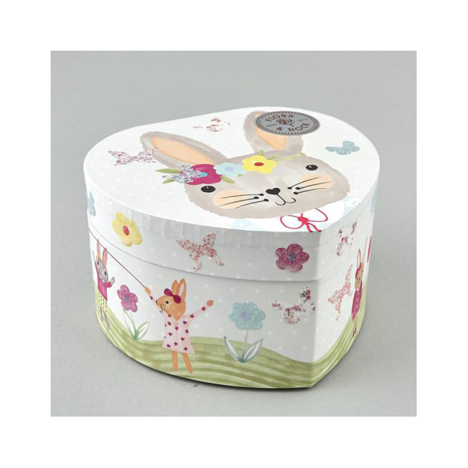 Think Pink Jewellery Box Bunny