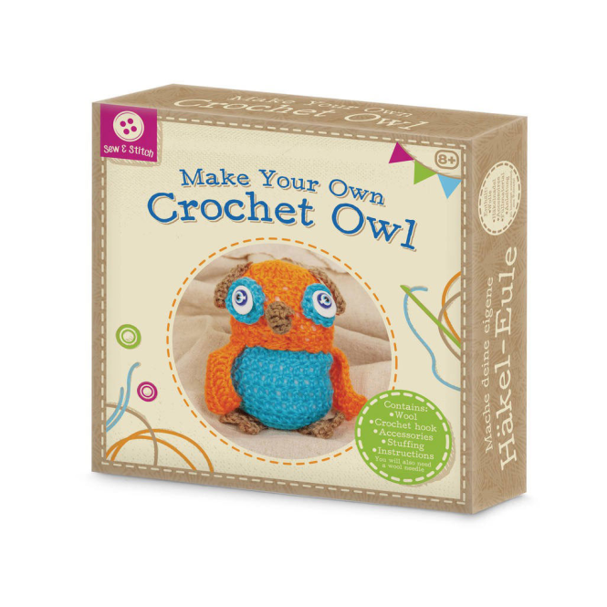 Make Your Own Crochet Owl-Craft TOBAR