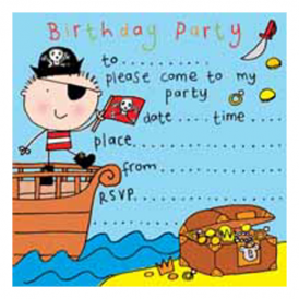 Twizler - Party Invitations Pirate