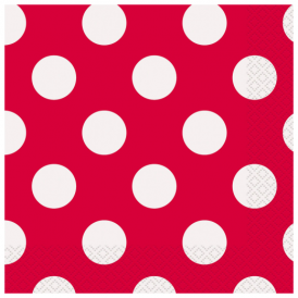 Unique Red Dots Napkins Small
