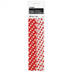 Unique Red Dots Straws