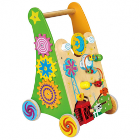 Viga Toys Activity Baby Walker Green
