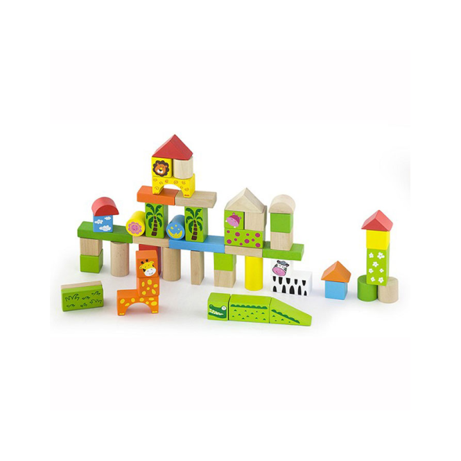 Viga Toys Building Blocks Zoo