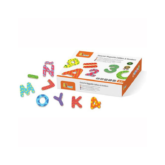 Viga Toys Colourful Magnetic Letters & Numbers