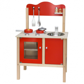 Viga Toys Red Wooden Kitchen