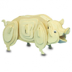 Woodcraft Construction Kit - Pig